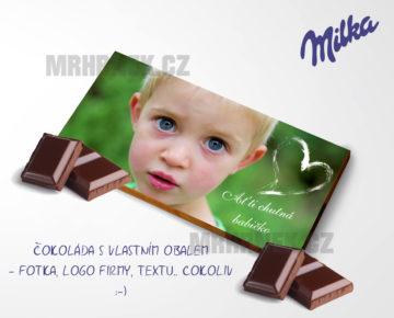Naprostá pecka! Čokoláda s vlastním obalem